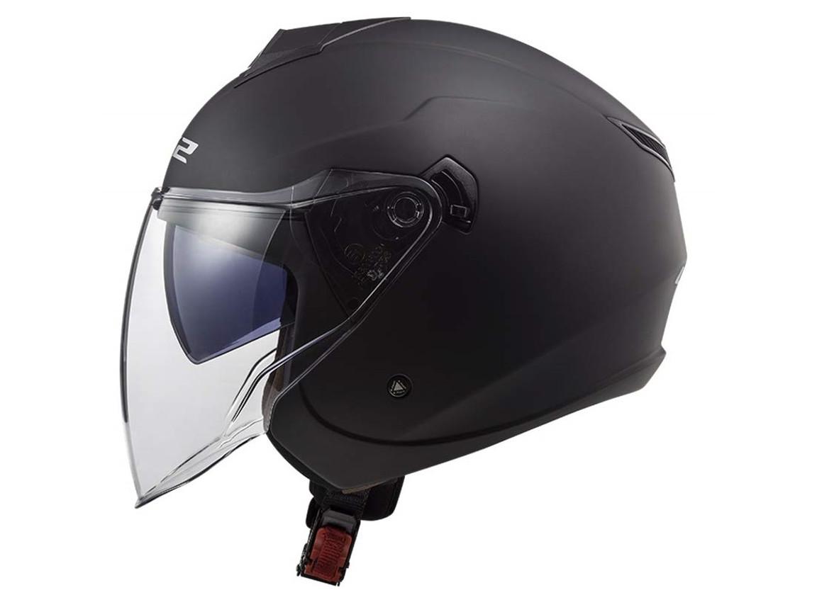 LS2 Jet Helmet OF573 Twister Black Matte Motorcycle Helmet